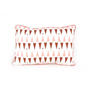 Coussin 25 x 52 cm Pink terracota triangles