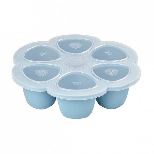 Moule silicone Multiportions XL 6x150 ml - Bleu
