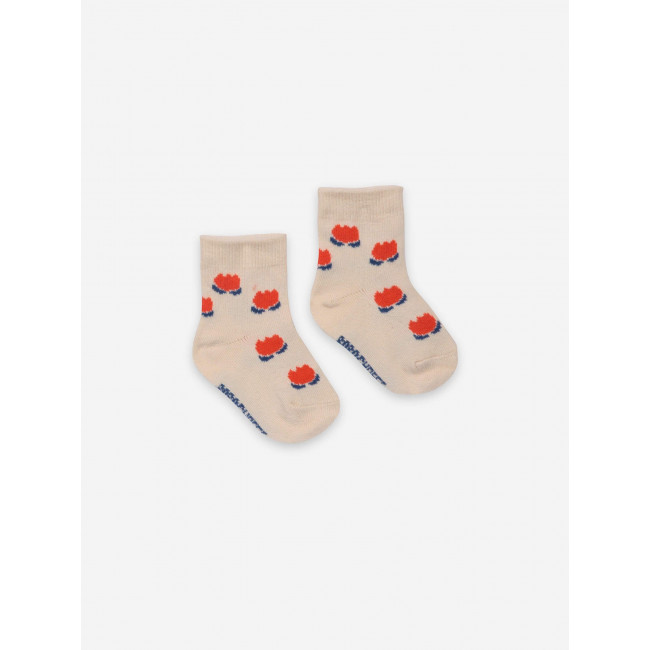 Chaussettes Chocolate Flowers White